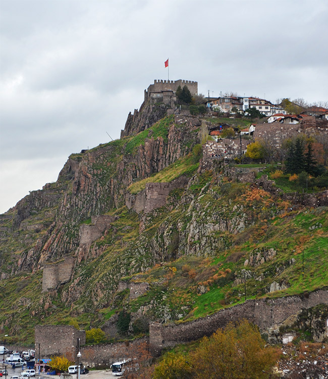 Ankara castle on a hill