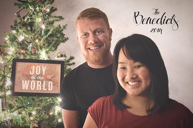 David and Leah Christmas Card