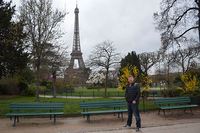 David with the Eiffel Tower