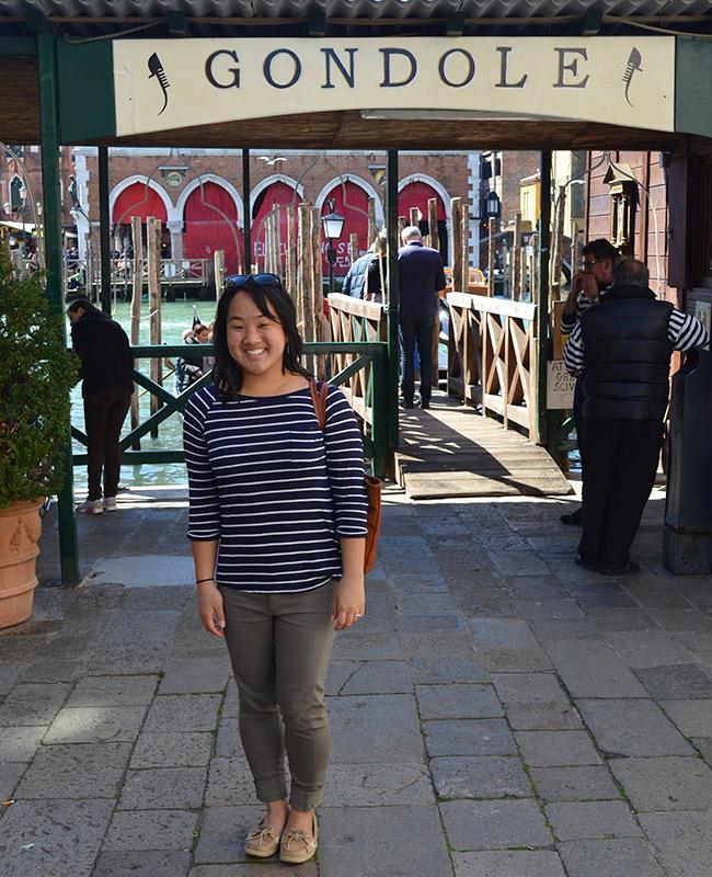 Venice gondola ferry