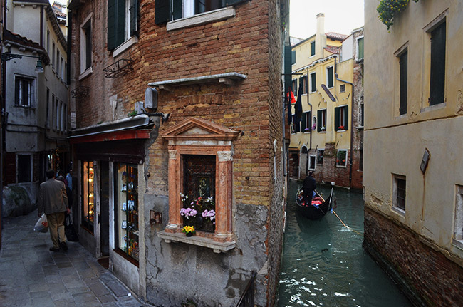Venice street and canal