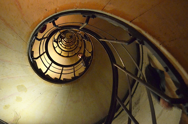 Arc de Triomphe winding stairs