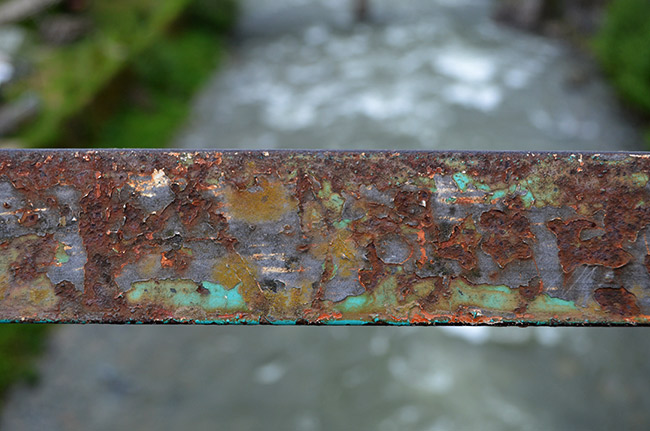 Rusted bridge