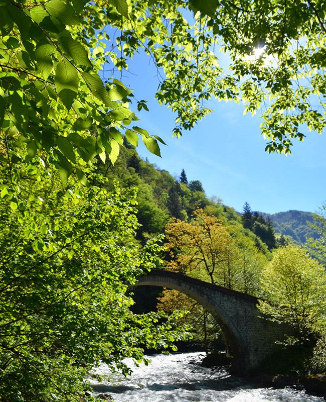 Sunny day and Ottoman bridge