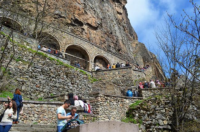 Sumela Monastery stairs