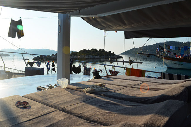 Boat deck at morning
