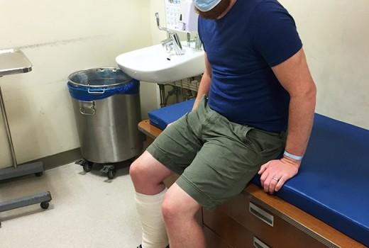 David at hospital