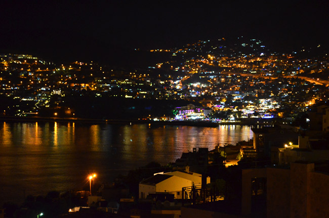 Kalkan at night