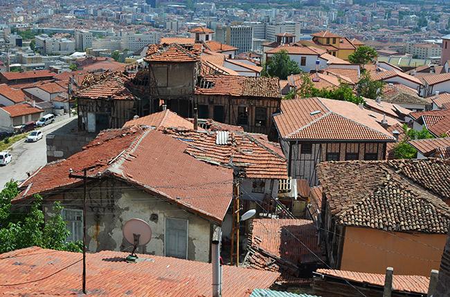 Rooftops in Ulus, Ankara