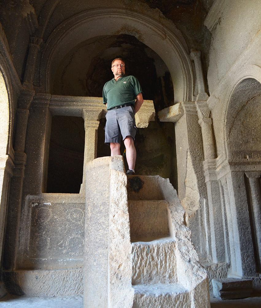 Cappadocia cave pulpit