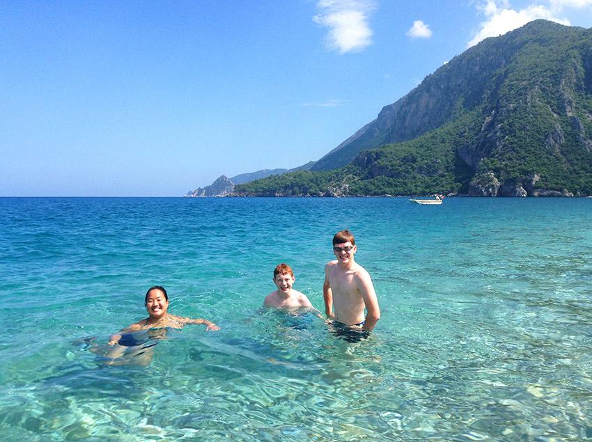 Swimming at Çıralı