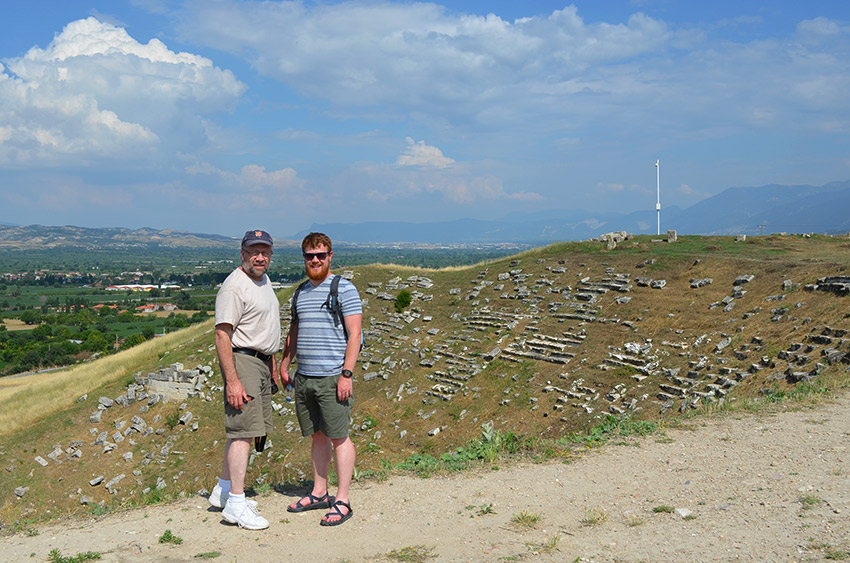 Dad and David at Laodicea