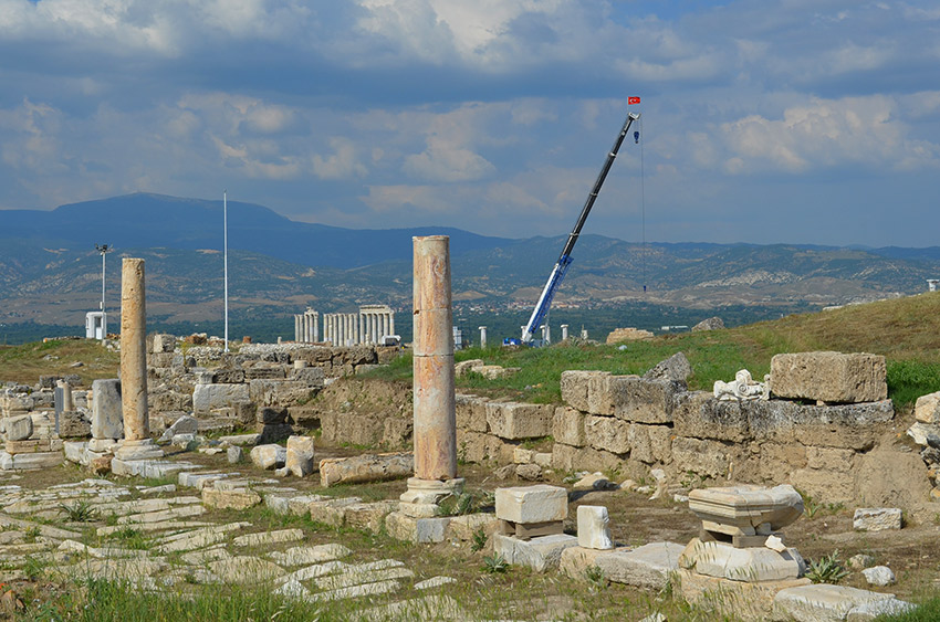 Laodicea excavations in Turkey
