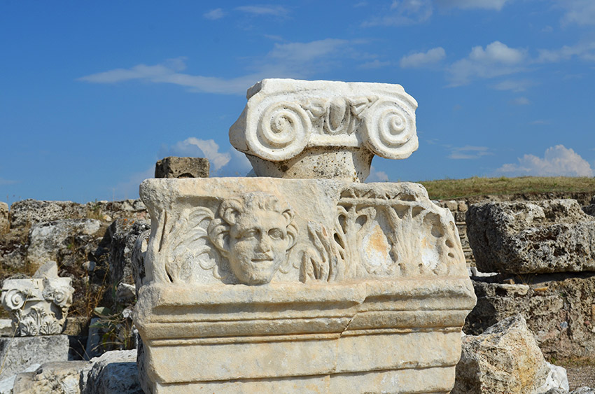 Laodicea carved face