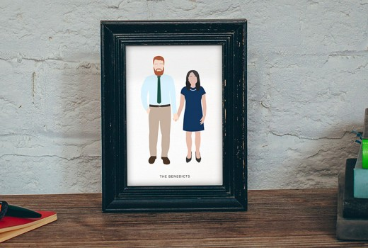Custom Illustrated Portrait Design