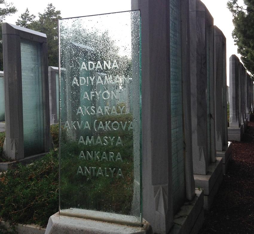 Çanakkale Martyrs' Memorial graves