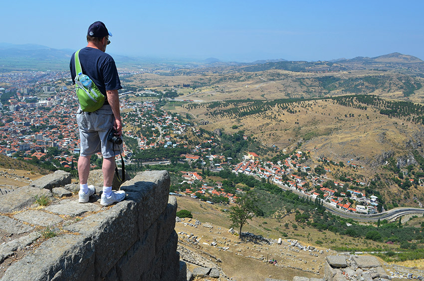 Dad overlooking Pergamum