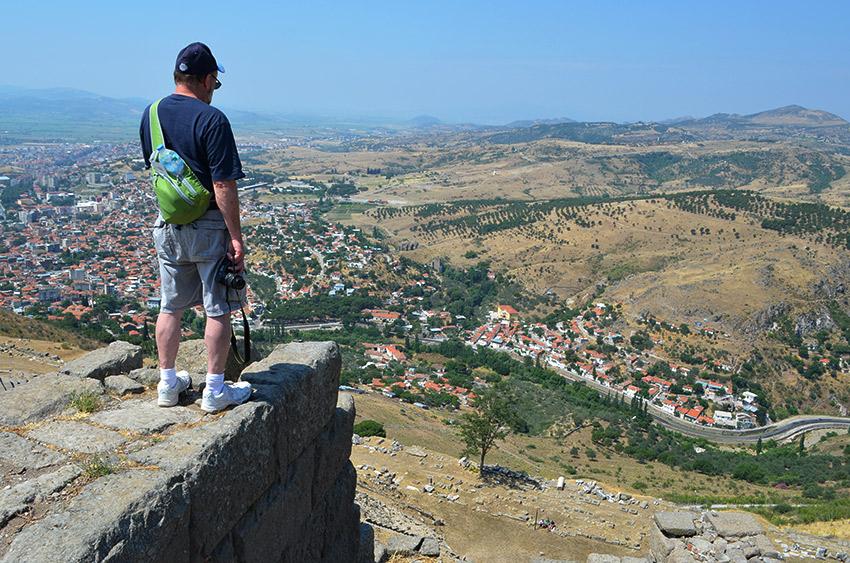 Dad overlooking Pergamum