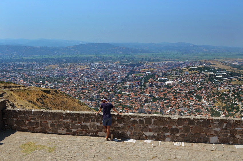 Man overlooking Bergama