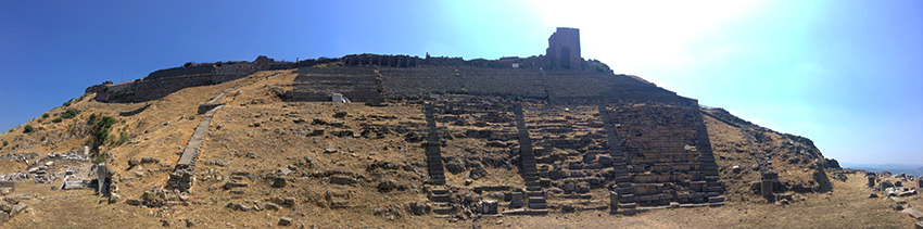 Pergamum from below