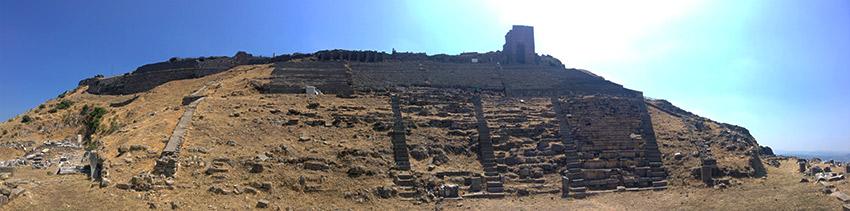 Pergamum from below