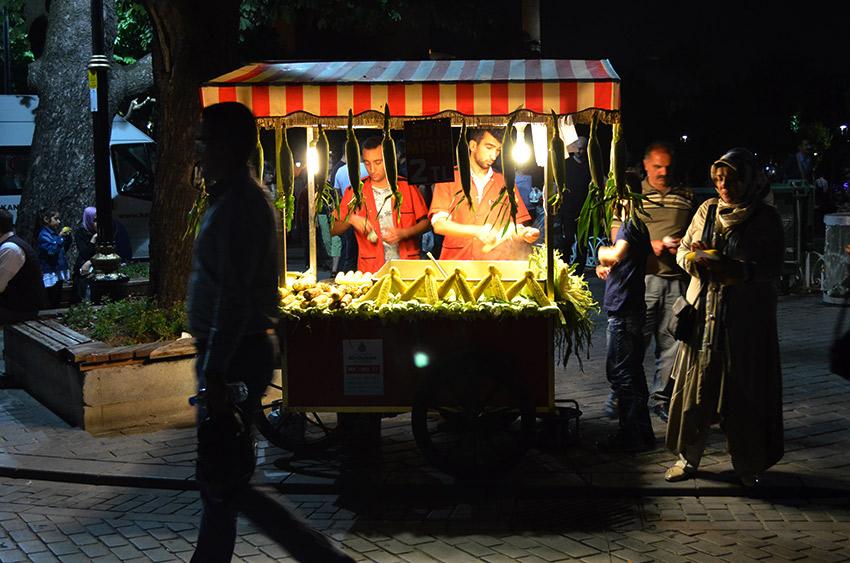 Corn vendor in Istanbul
