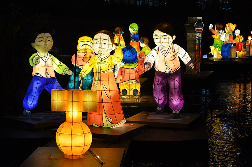 Lanterns of Korean children