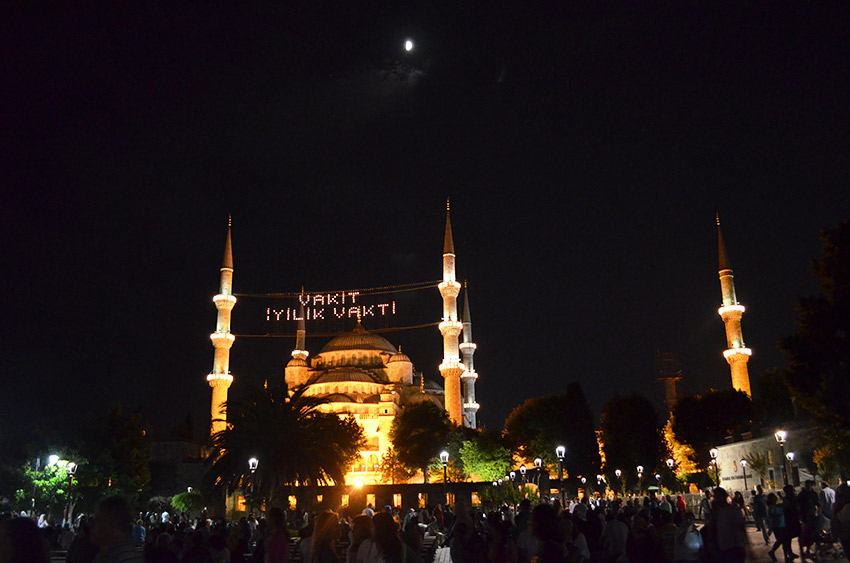 Blue mosque during Ramazan