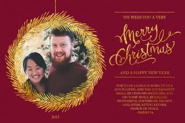 David and Leah Christmas Card 2015