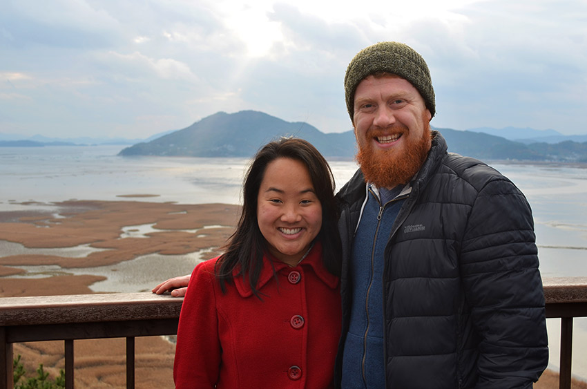 David and Leah in Suncheon