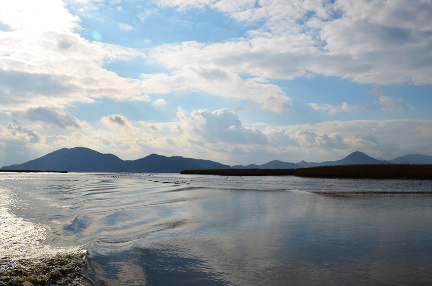 Suncheon ferry ride view