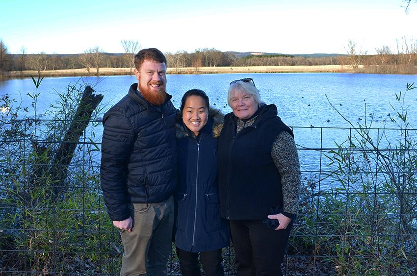 David, Leah, Mom at Magness Lake