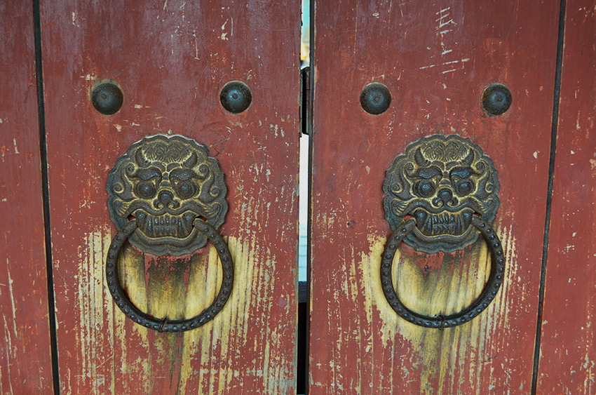 Iron dragon door knockers