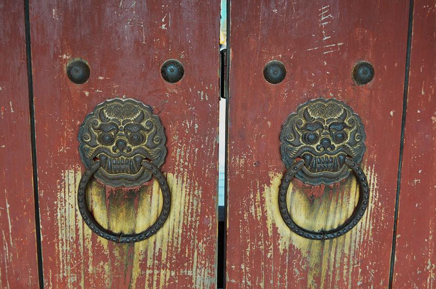 Iron dragon door knockers