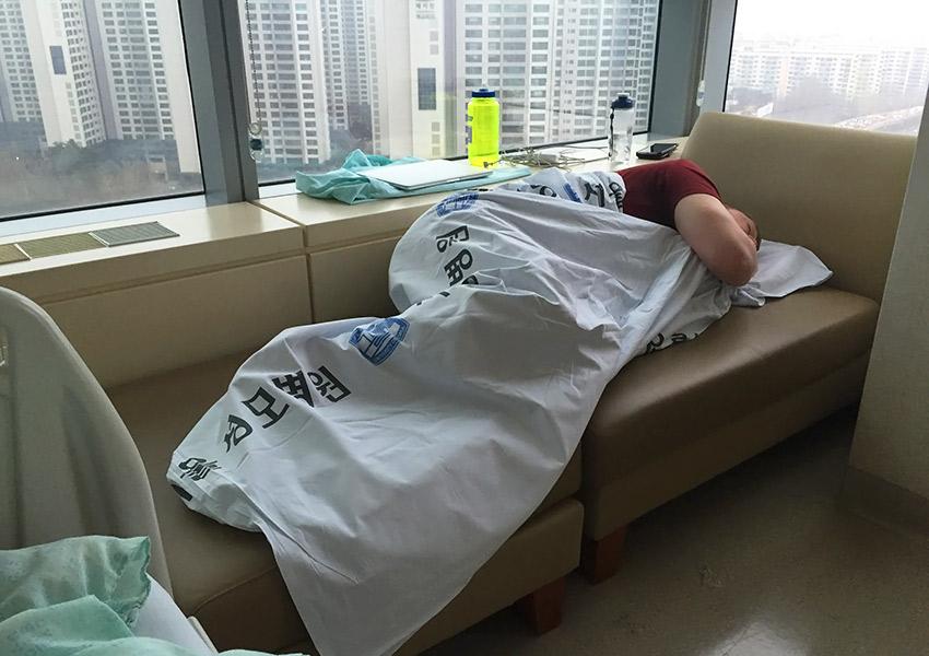 David sleeping