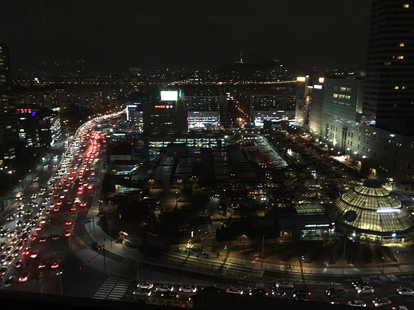 Gangnam hospital room view