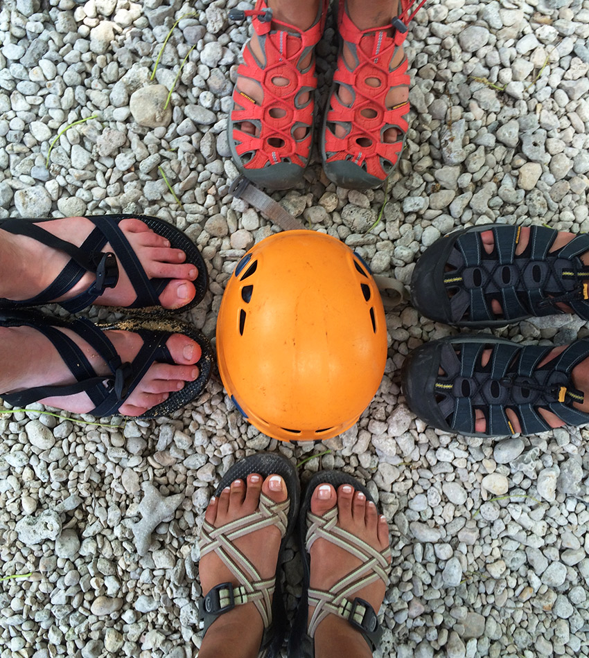 Chaco shoes and Keen shoes