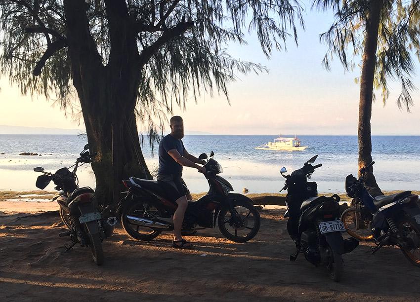 David on Motorbike