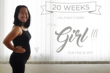 20 weeks gender reveal - it's a girl!