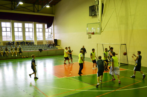Students vs Staff basketball game