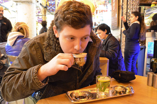 Turkish Coffee at the Fez Cafe in the Grand Bazaar