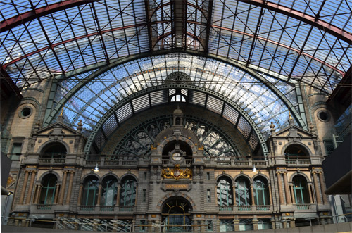 Antwerp Train Station architecture