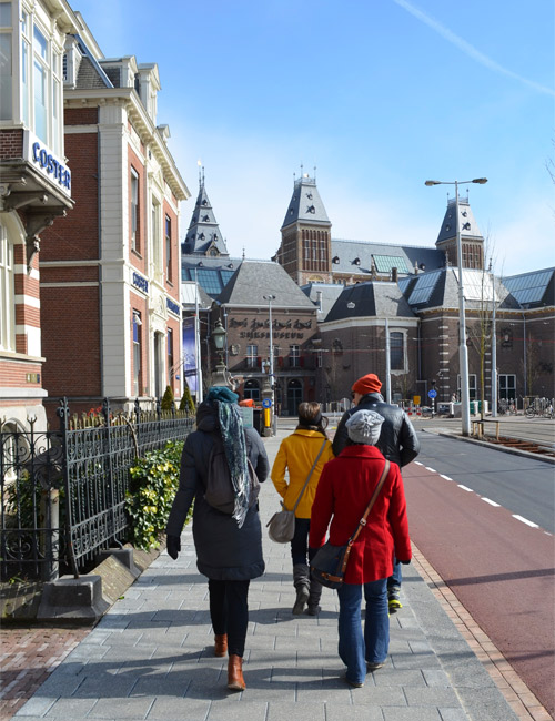 Walking in Amsterdam