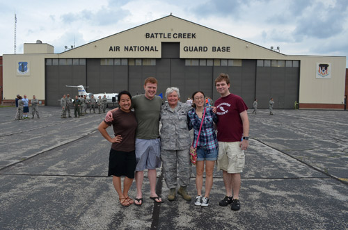 Family day at the guard base