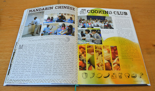 Yearbook 1 page spreads