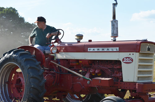 Dad on the tractor