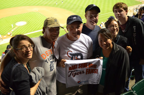 Family at Detroit Tigers game