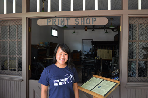 At the print shop in Charlton Park