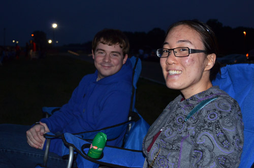 Waiting for fireworks