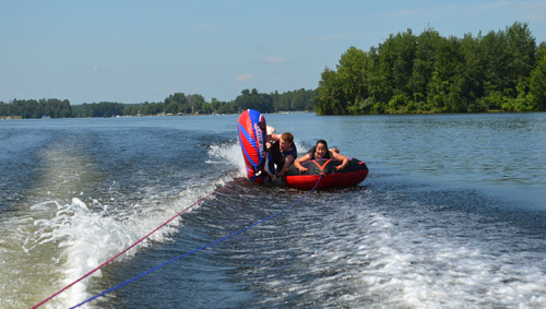 Wiping out while tubing